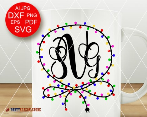 Monogram xmas garland Party season 1