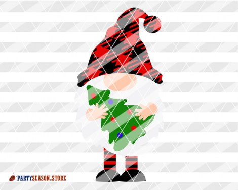 Buffalo plaid Red Gnome hat Party Season store 1