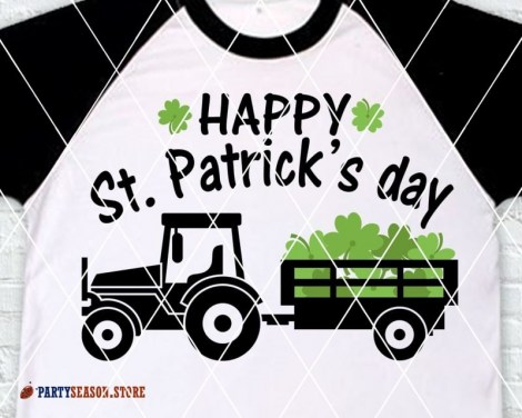 Happy St Patricks day Tractor party season store 2
