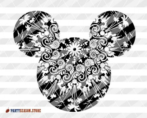 Mandala Mickey Mouse signs Party Season 4