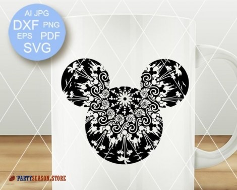 Mandala Mickey Mouse signs Party Season 3