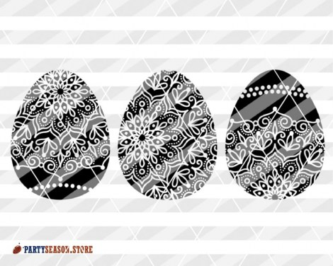 Zentangle eggs Party season store 3