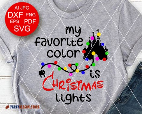 Party Season store christmas lights svg files 2