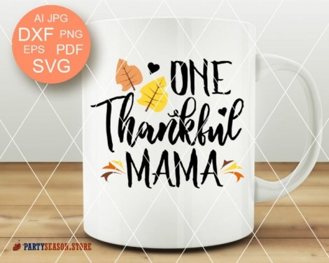 ONE thankful mama party season store 1