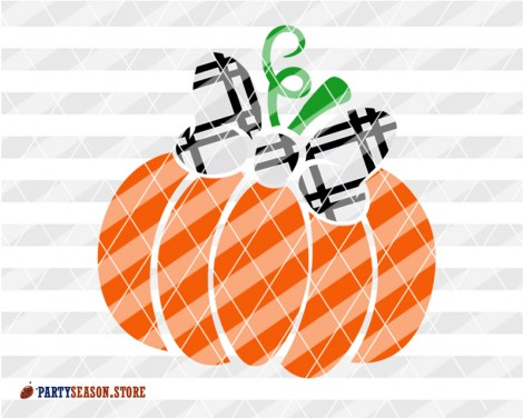 Pumpkin bow Plaid Party season store 3