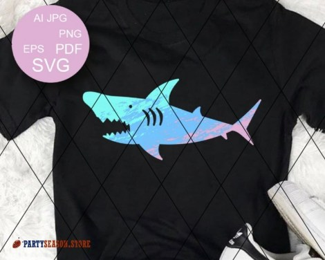 Ombre shark party season store 1