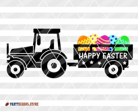 Tractor Happy easter Party season store 2