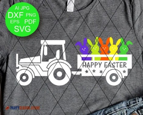 Tractor Happy easter Bunny Party season store 1