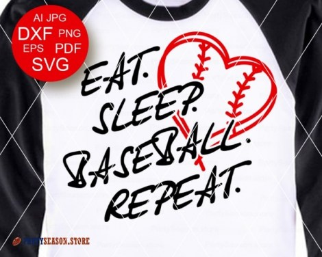 Eat Sleep Baseball Repeat party season 2