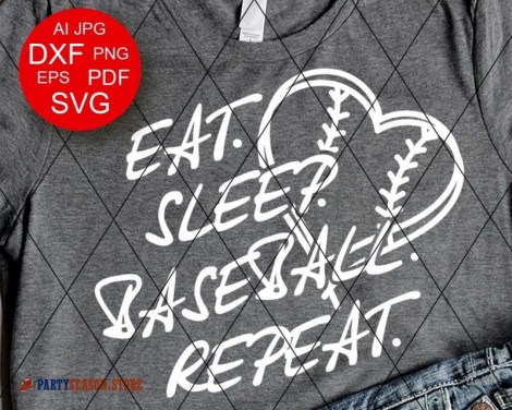 Eat Sleep Baseball Repeat party season 1