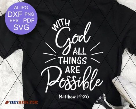 With God All Things are Possible  Party season store 1