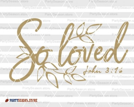 Loved SVG John 3:16  Party season Store 2