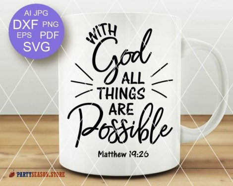 With God All Things are Possible  Party season store 2
