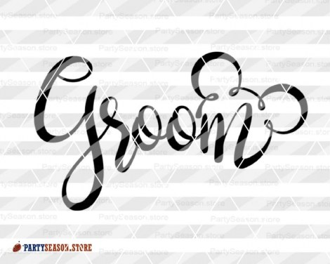 PartySeason bride groom svg Disney 2