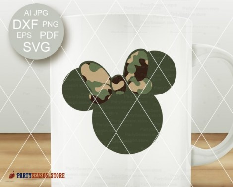 party season store camo Minnie bow 2