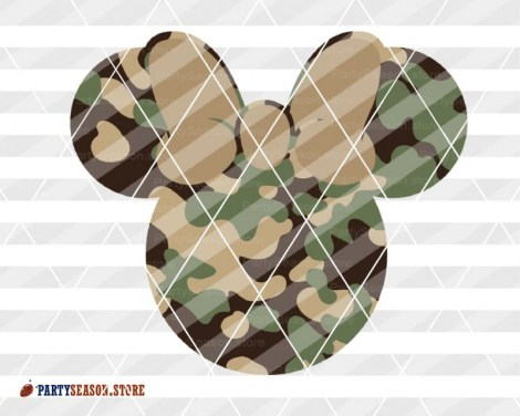 party season store Camoflauge Mickey 3