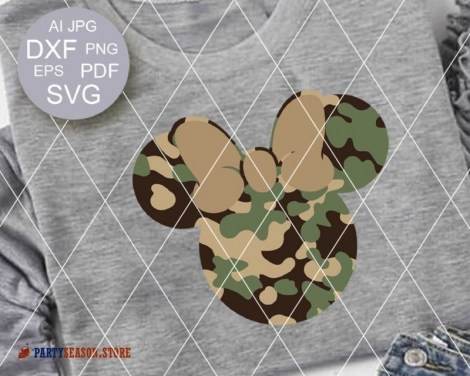 party season store Camoflauge Mickey 1