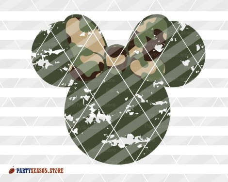 party season Grunge Camoflauge Mickey 3