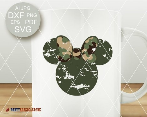 party season Grunge Camoflauge Mickey 2