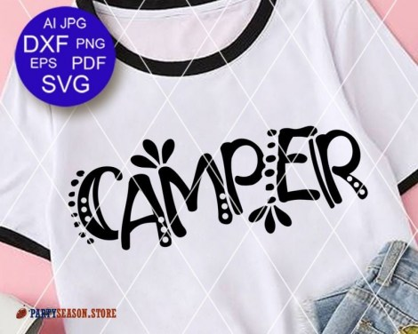 Camper font Party season store 1