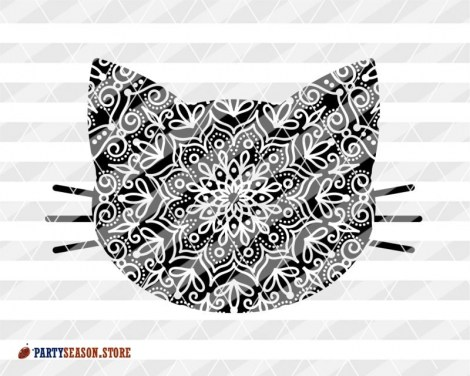 Cat Zentangle Party season store 3