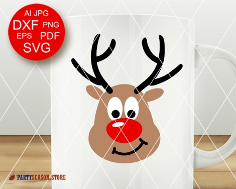 Deer antlers svg Party Season store 1