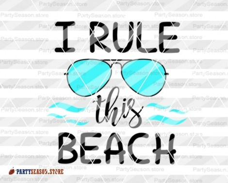 I Rule This Beach Party Season store 4