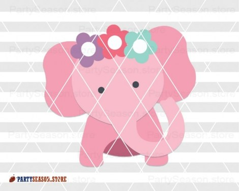 elephant with flowers Party season 2