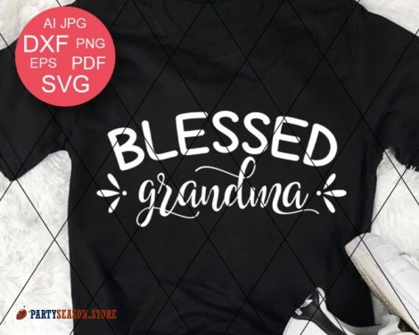 Blessed Grandma Svg Party season Store 4