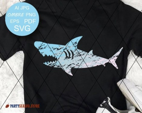 Shark  Ombre Grunge party season store 1