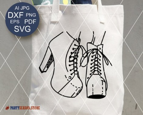 Shoes svg party season store 1