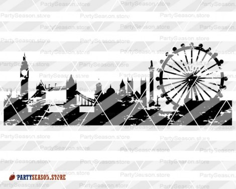 London Skyline Grunge Party season store 4