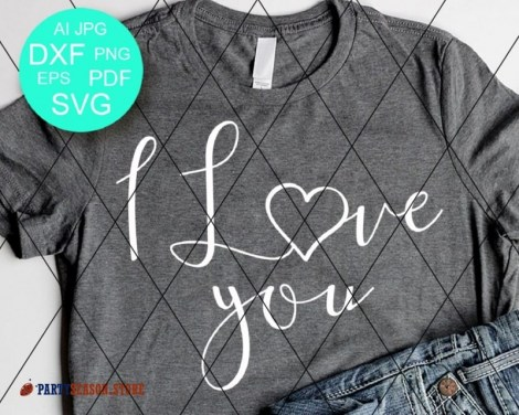 I love you svg Party season 1