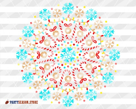 Mandala Color Snowflakes Party Season store 2