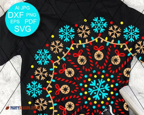 Mandala Color Snowflakes Party Season store 1