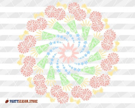 Colorful Cheer Mandala Party Season store 4