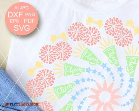 Colorful Cheer Mandala Party Season store 1