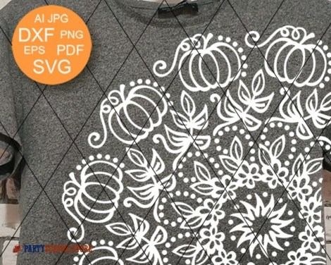 Mandala svg Pumpkin Party Season 1