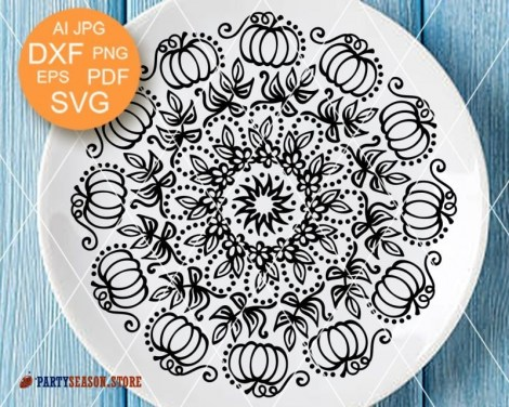 Mandala svg Pumpkin Party Season 2