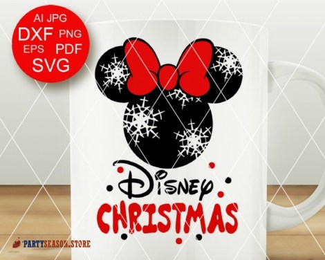 Disney Christmas svg Minnie Party Season 1