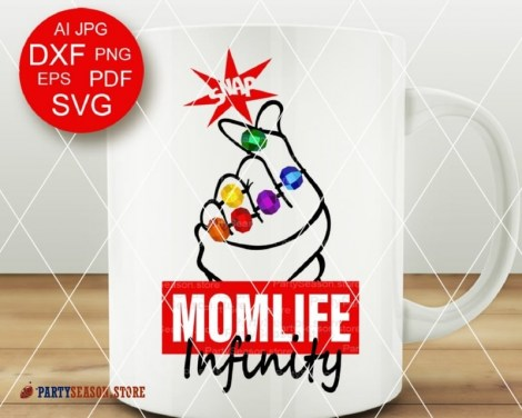 Party season store Momlife Infinity svg 2