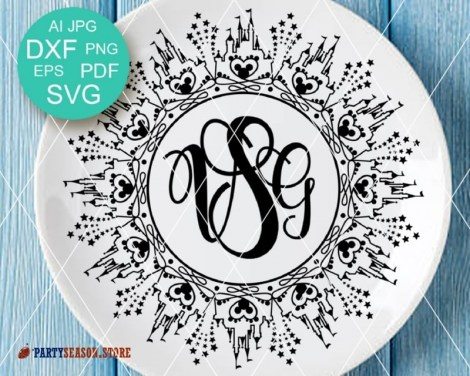 party season store Birthday monogram 5