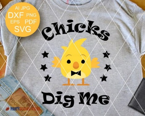 Chicks Dig Me SVG Party season store 1