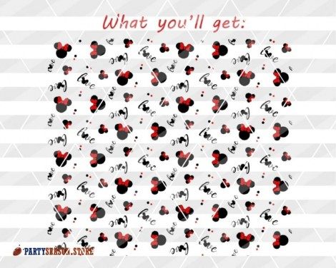 partyseasonstore seamless pattern Minnie Love 5