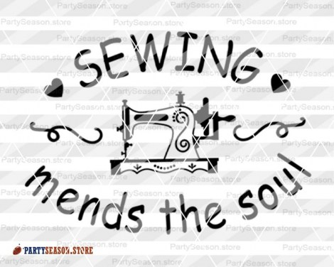 Sewing mends the soul SVG Party season Store 3