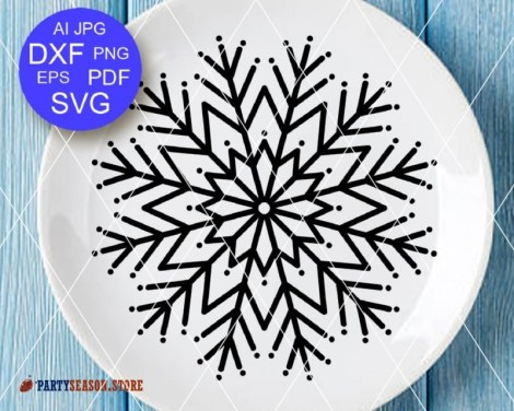 Snowflake svg Party Season 3