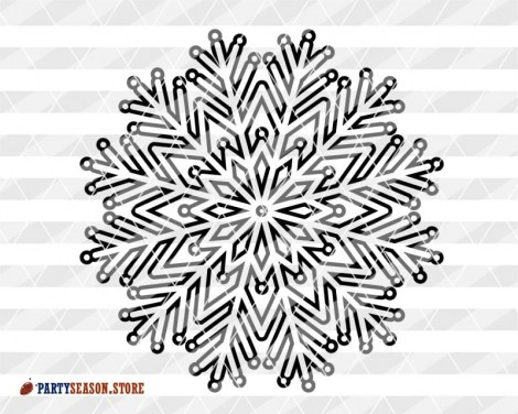 Mandala Snowflake Party Season store 3
