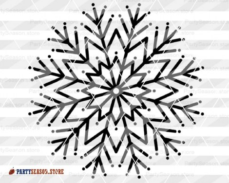 Snowflake svg Party Season 4