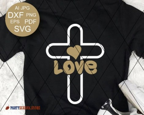 Cross Love Heart Party season store