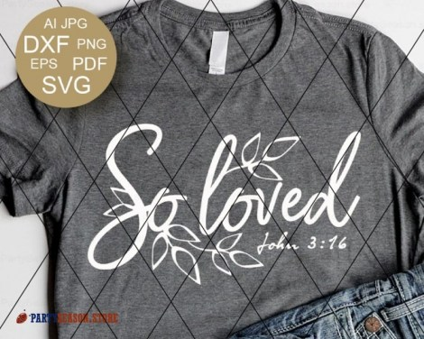 Loved SVG John 3:16  Party season Store 1